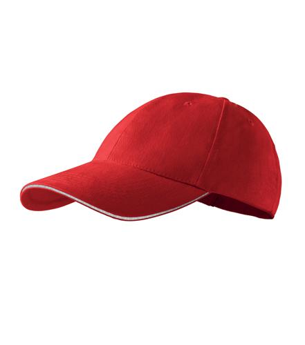Czapka A 306 6P SANDWICH - 306_07_C - Kolor: Czerwony